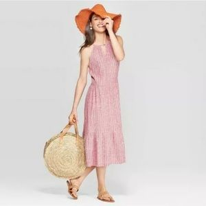 Universal Thread Linen Blend Tiered Dress